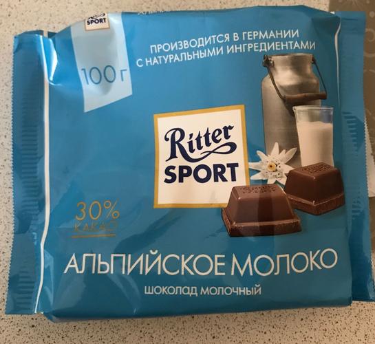 описание Шоколад Ritter Sport молочный