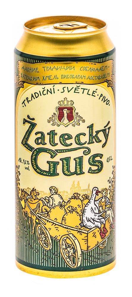 """Пиво """"Zatecky Gus"""" светлое, 4,6%, 0,5 л"""