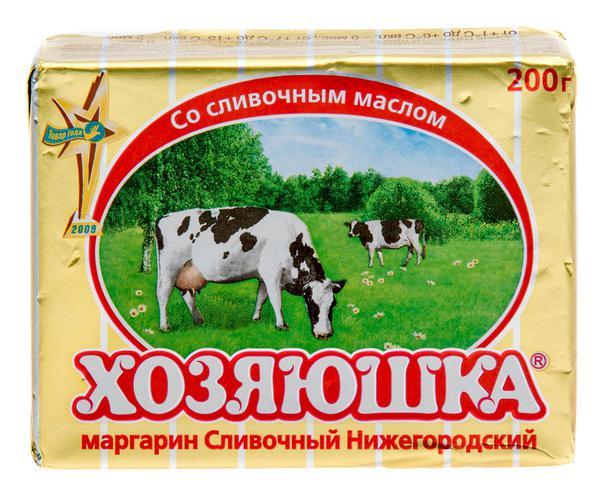 """Маргарин """"Хозяюшка"""" Сливочный Нижегородский 60%"""