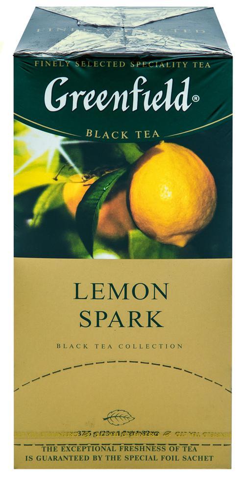 Чай черный байховый Гринфилд Лемон Спарк в пакетиках