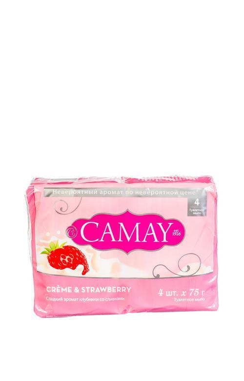 отзыв Мыло CAMAY с ароматом клубники со сливками 4шт. 75 гр