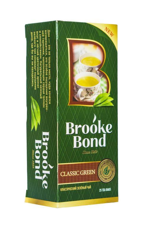 Чай зеленый байховый brooke bond классический 24x25пx1.8г
