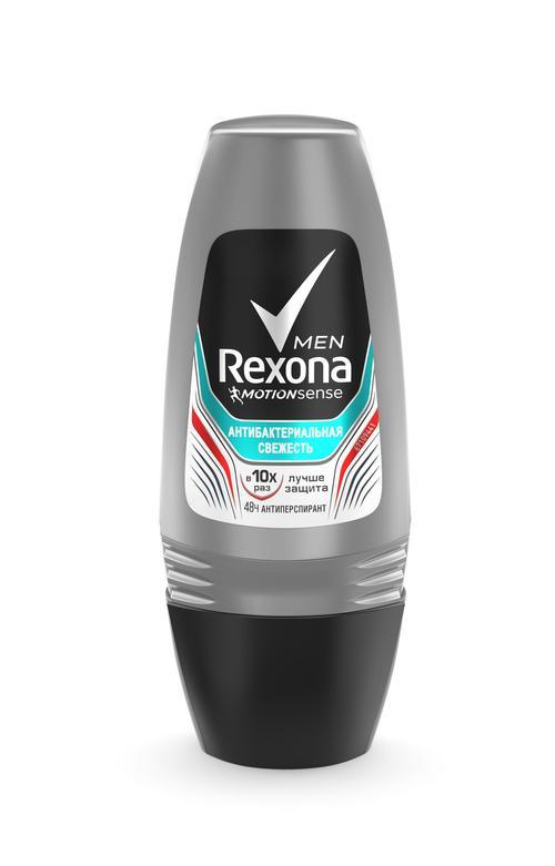 описание Rexona Men Motionsense антиперспирант ролл Антибактериальная свежесть, 50 мл