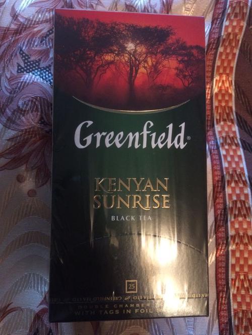 фото Чай черный байховый Гринфилд Кениан Санрайз в пакетиках