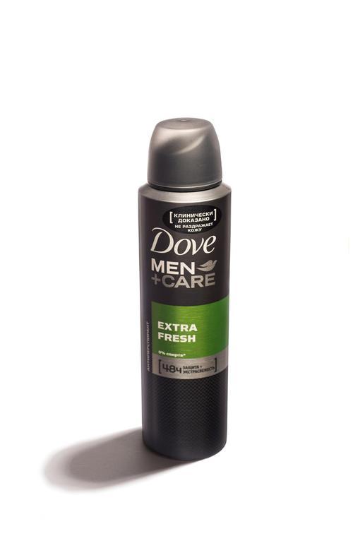 """описание Антиперспирант аэрозоль """"Dove men+care"""" Свежий бриз, эффективно защищает 24ч, не раздражает кожу, """"Unilever"""", 150мл"""