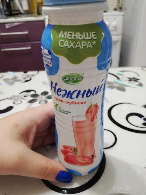 """цена Напиток йогуртный стерилизованный """"нежный"""" с соком клубники 0,1%"""