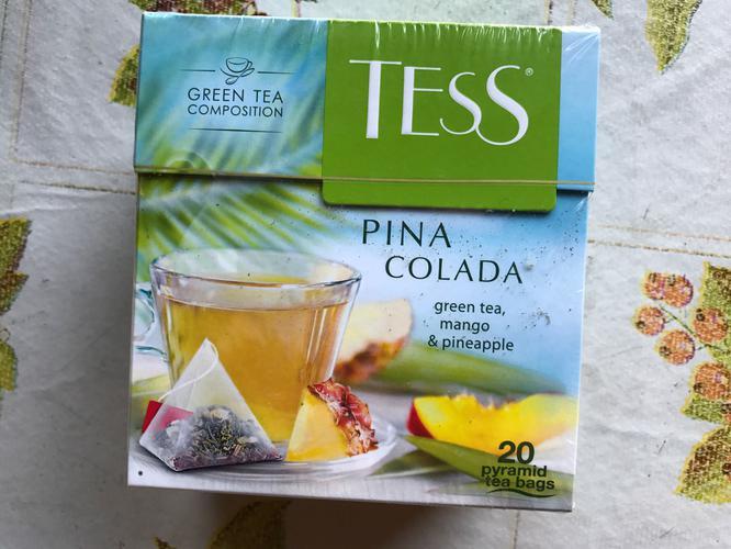 стоимость Чай зеленый байховый Тесс Пина Колада в пакетиках
