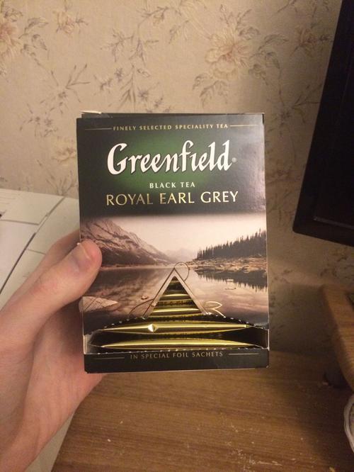 Чай черный байховый Гринфилд Роял Эрл Грэй в пакетиках