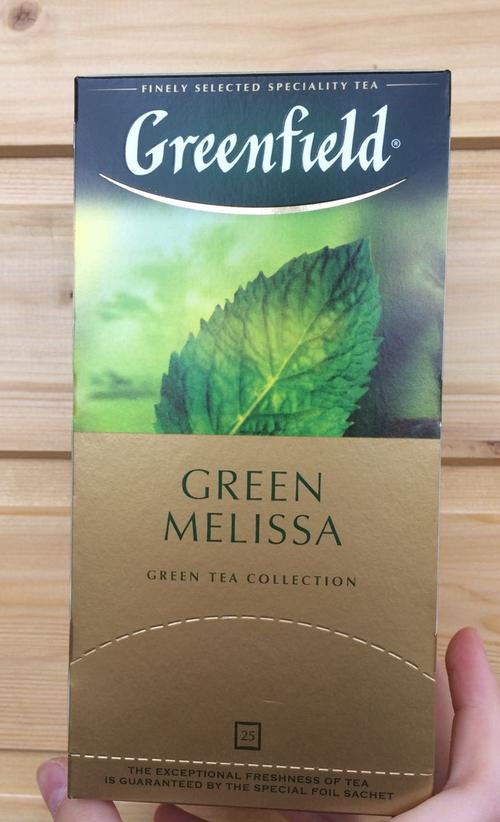 фото6 Чай зеленый байховый Гринфилд Грин Мелисса в пакетиках