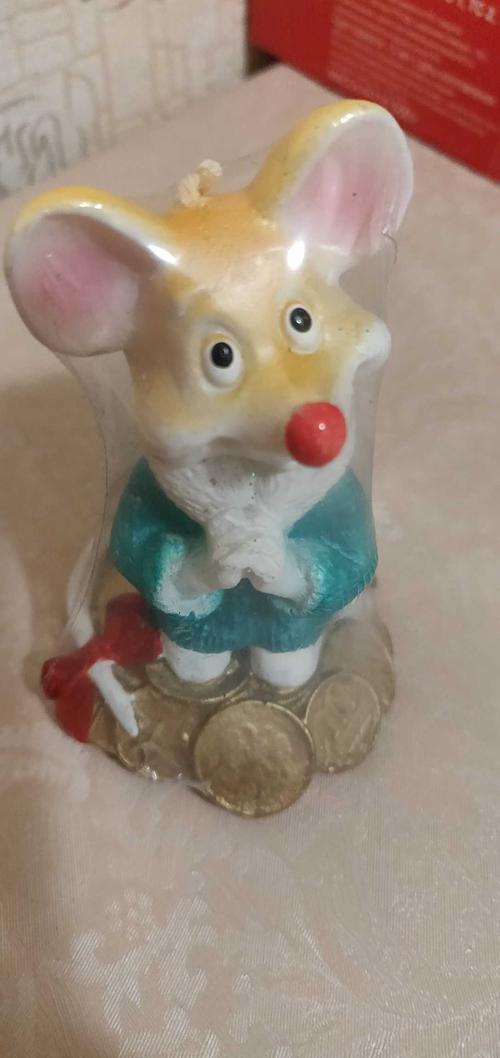 "Свеча-сувенир ""Мышка с монетами"""
