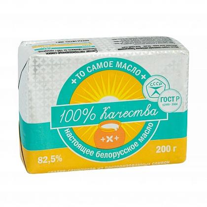Масло сладко-сливочное традиционное. Массовая доля жира не менее 82.5%. Высший сорт