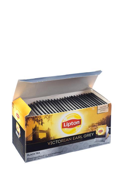 отзыв Lipton черный чай в пакетиках Victorial Earl Grey 25 шт
