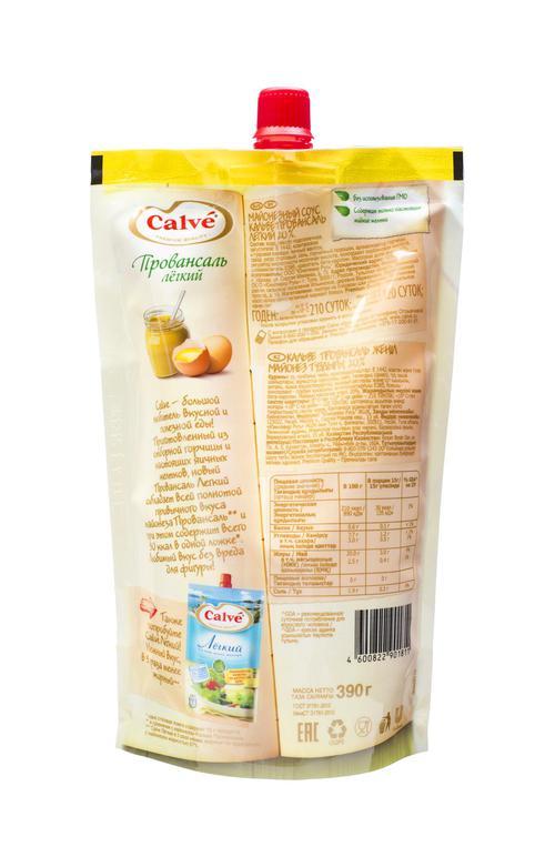 отзыв Кальве майонезный соус провансаль легкий 24х390г в дой-паке