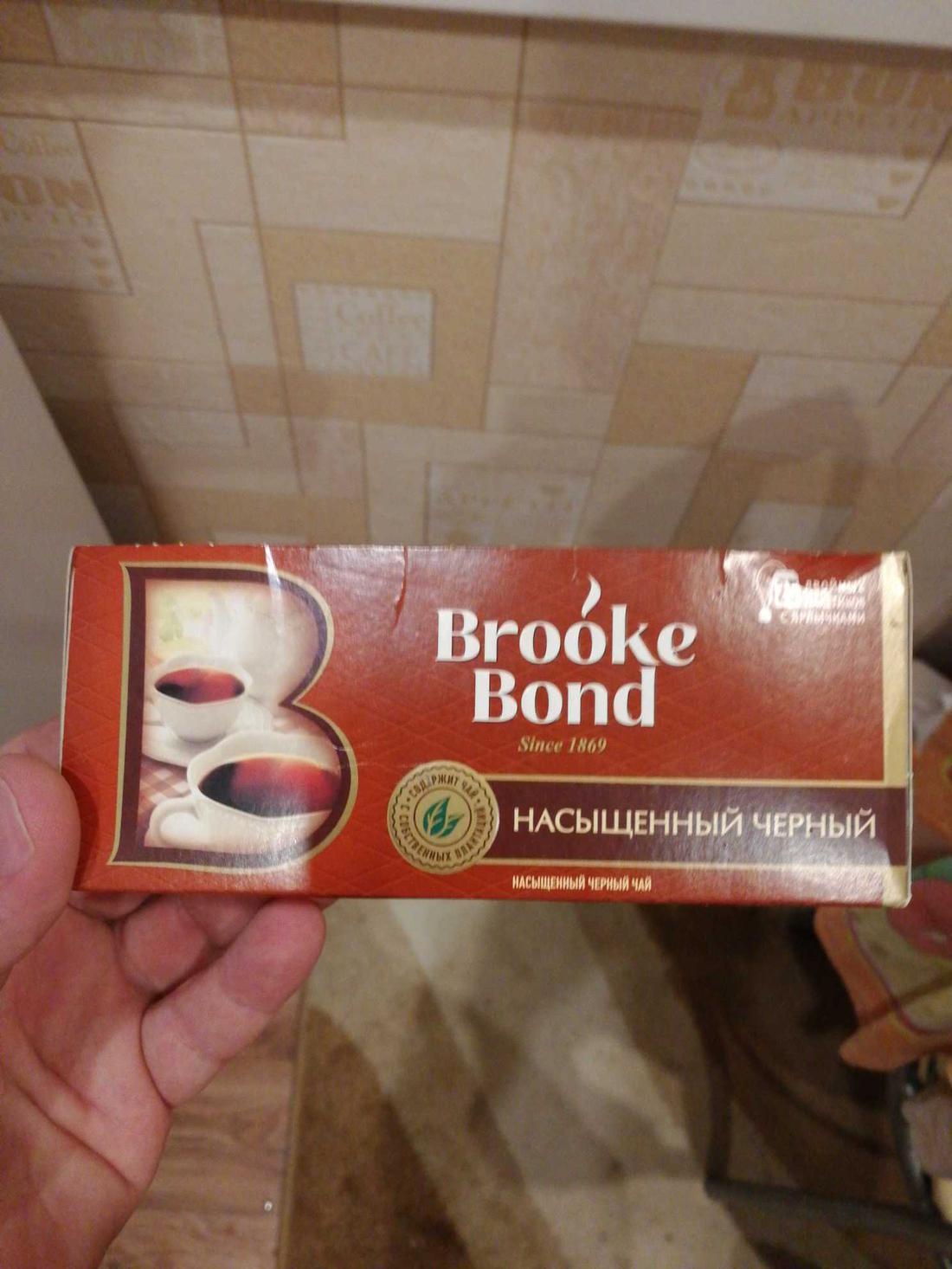 фото4 Чай черный brooke bond байховый, 25 пакетиков х 1,8г.