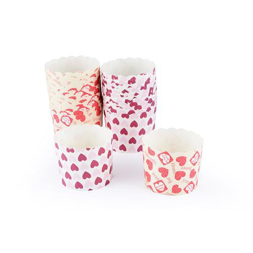 Комплект из 24 формочек для кексов 62x55мм (ламинированная бумага)