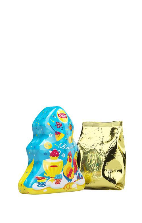 "цена Набор lipton ""новогодняя ёлочка"" с листовым чаем"