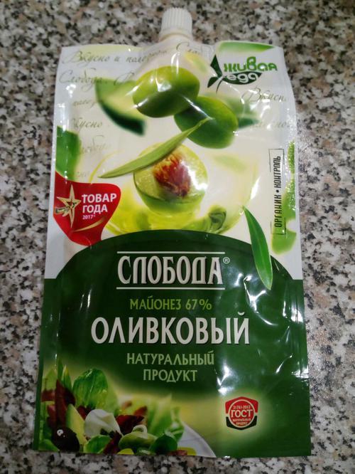 """фото5 Майонез """"Слобода"""" оливковый 67%, 400мл"""
