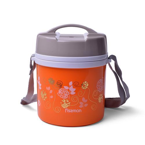FISSMAN Для пищи термос 1400мл Оранжевый (нерж.сталь)