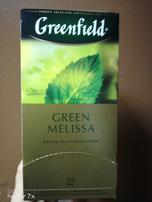фото4 Чай зеленый байховый Гринфилд Грин Мелисса в пакетиках