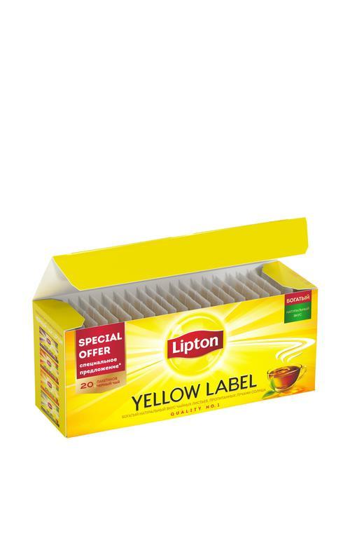 отзыв Чай черный байховый Lipton Yellow Label, 20пак.