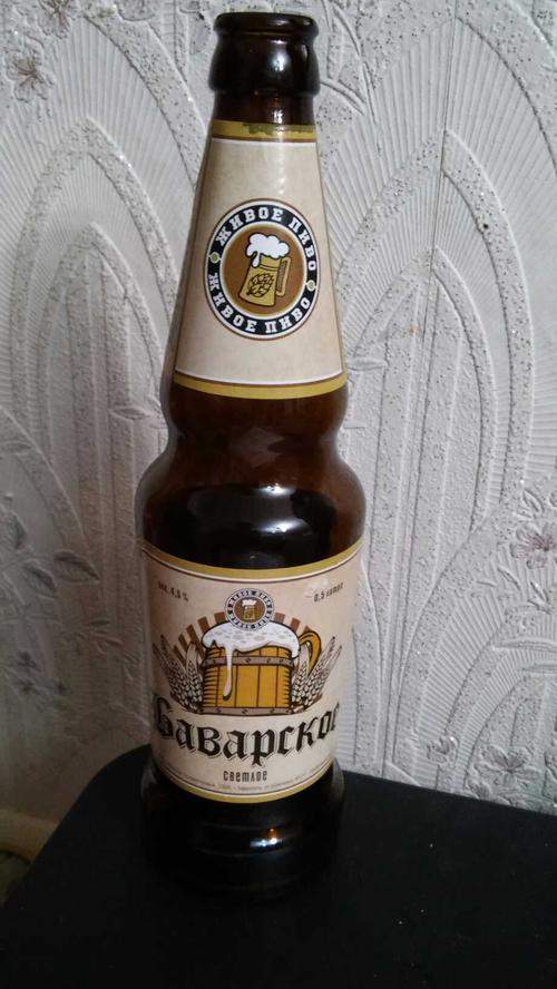 Живое пиво Баварское светлое 4,5% 0,5л.