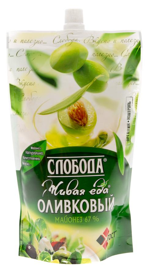"Майонез ""Слобода"" оливковый 67%, 400мл"