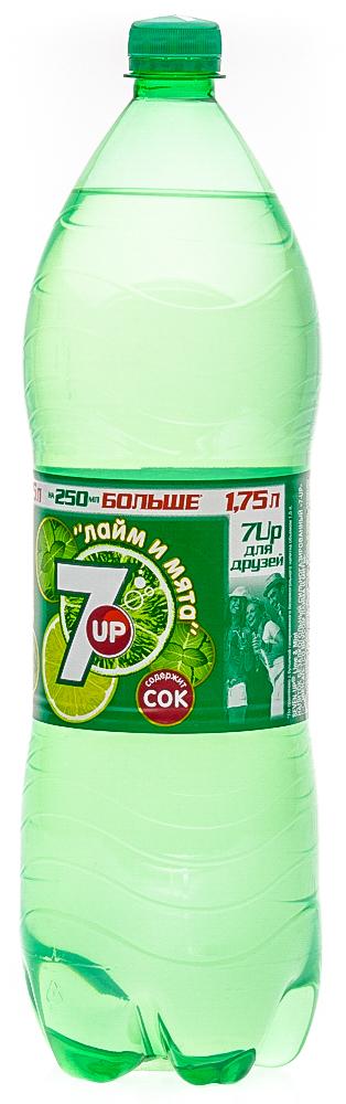"""Напиток безалкогольный сильногазированный """"7-up"""" (сэвен-ап) со вкусом лайма и мяты"""