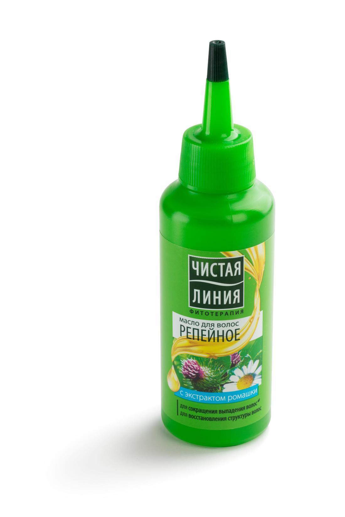 """цена Масло для волос """"репейное"""" чистая линия"""