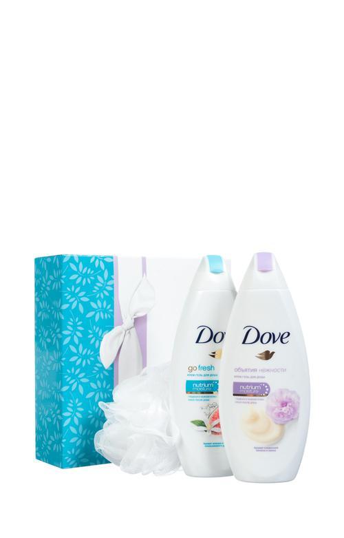 """цена Dove подарочный набор """"Момент наслаждения"""" (250+250 мл)"""