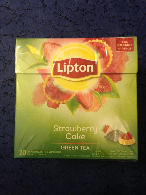 стоимость Чай Lipton Клубничный Кейк зеленый, 20пак.