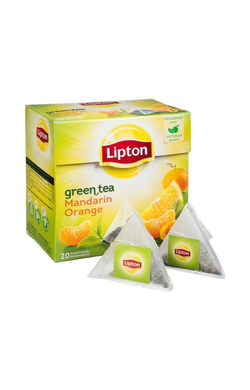 описание Чай зеленый Lipton ароматизированный цедра мандарина и апельсина, 20пак.