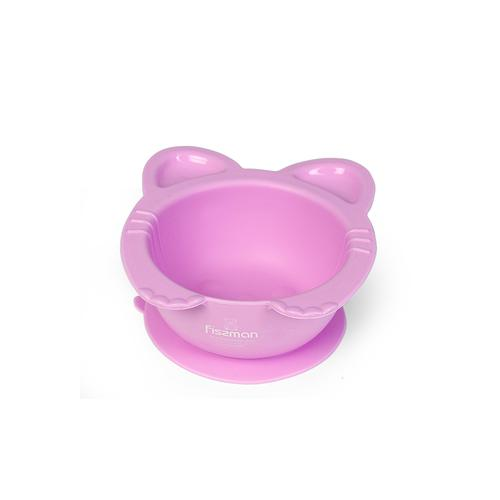 Тарелка Кошки 15x14x6см /300мл Глубокая на присоске (силикон)