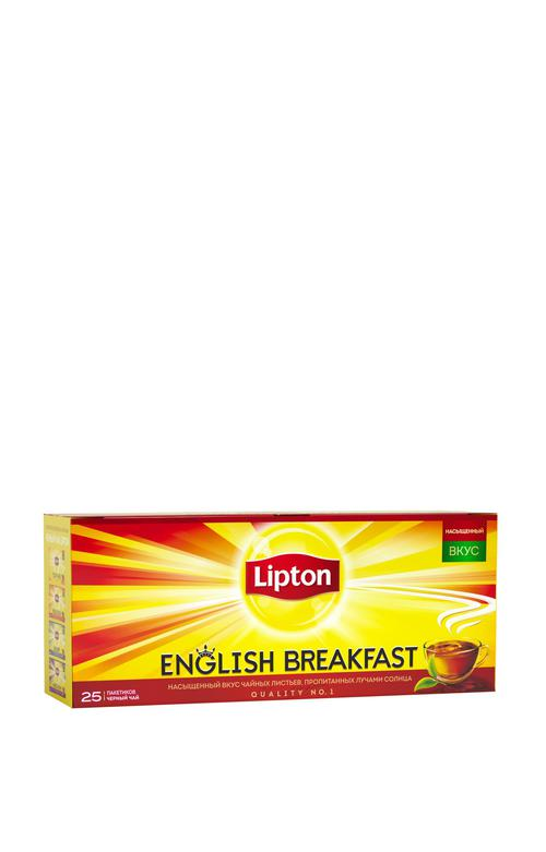 цена Чай Lipton English Brеakfast черный 25пак.х2г