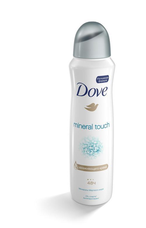 "описание Дезодорант спрей антиперспирант ""DOVE"" прикосновение природы 150 мл."