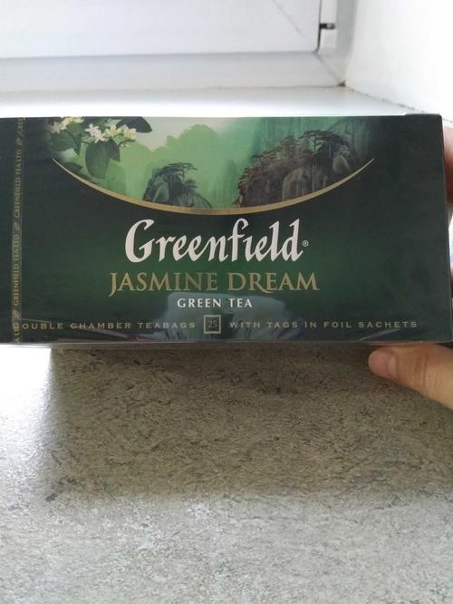 стоимость Чай зеленый байховый Гринфилд Жасмин Дрим в пакетиках