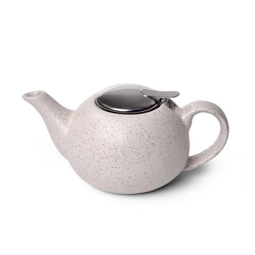Чайник заварочный 800мл с ситечком, цвет Белый песочный (керамика)