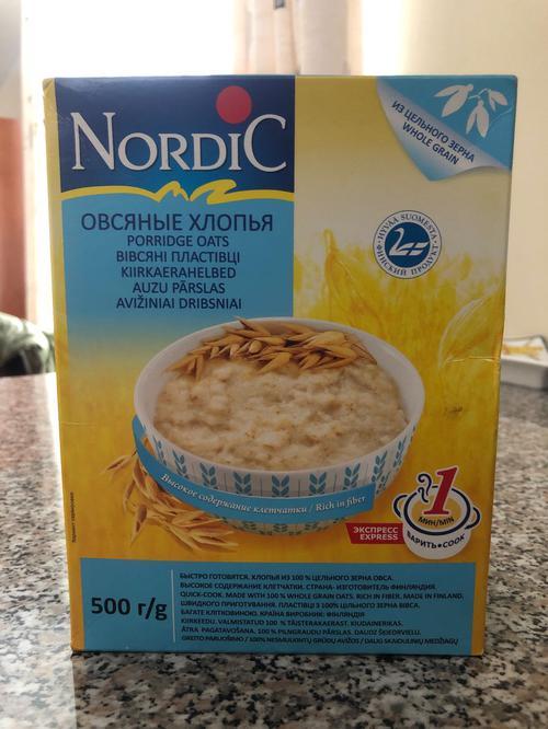 отзыв Хлопья овсяные NordiC