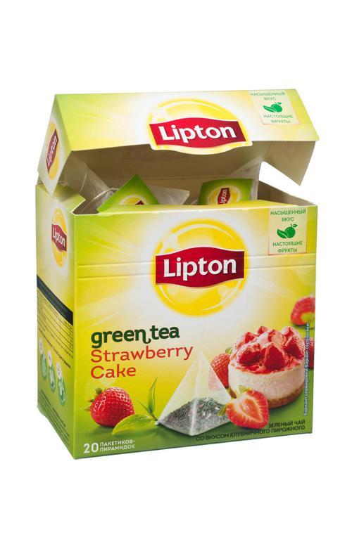 отзыв Чай Lipton Клубничный Кейк зеленый, 20пак.
