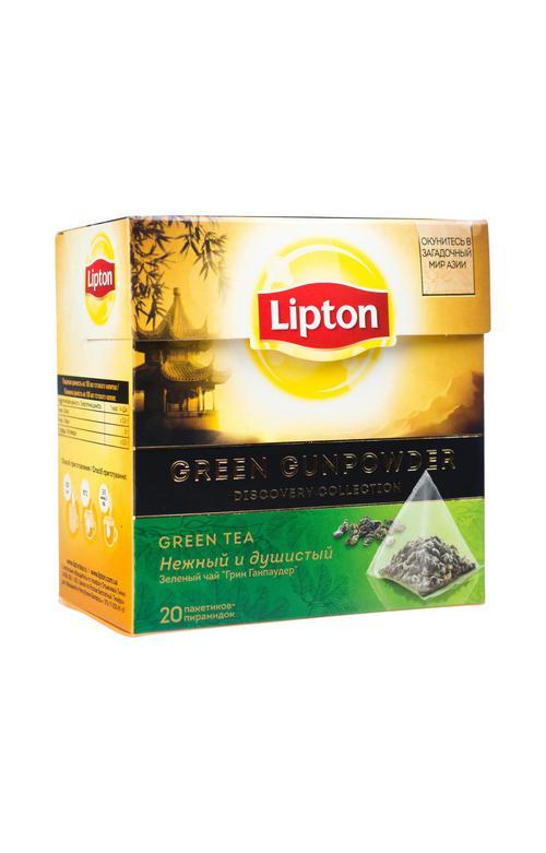 Чай зеленый Lipton Green Gunpowder байховый ароматизированный
