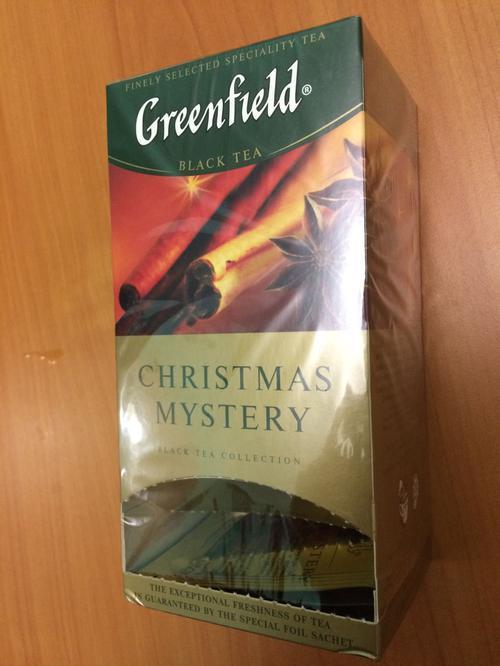 фото4 Чай черный байховый Гринфилд Кристмас Мистери в пакетиках