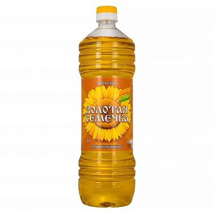 Масло подсолнечное нерафинированное «Золотая семечка»