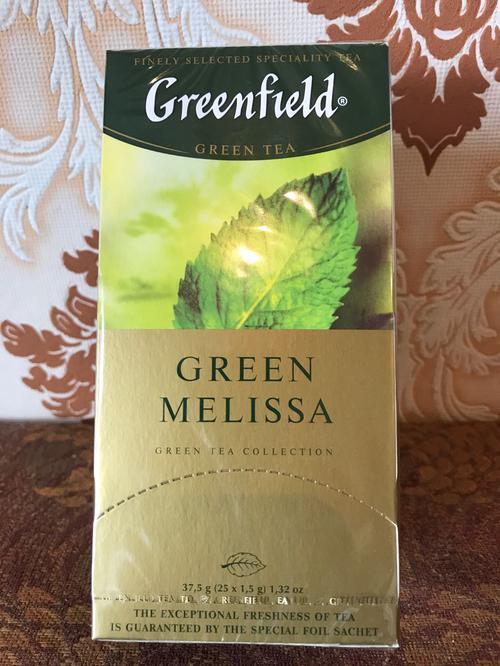 фото7 Чай зеленый байховый Гринфилд Грин Мелисса в пакетиках