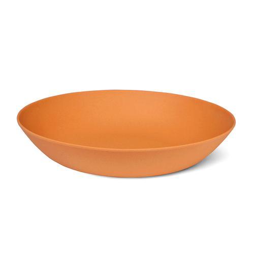 Тарелка 22x4,4см Глубокая, цвет Оранжевый (бамбуковое волокно)