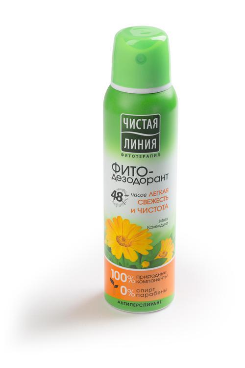 описание Антиперспирант аэрозоль фитодезодорант чистая линия легкая свежесть и чистота