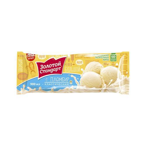 """Мороженое-пломбир """"Золотой стандарт"""" ванильный, 495г., 900мл."""