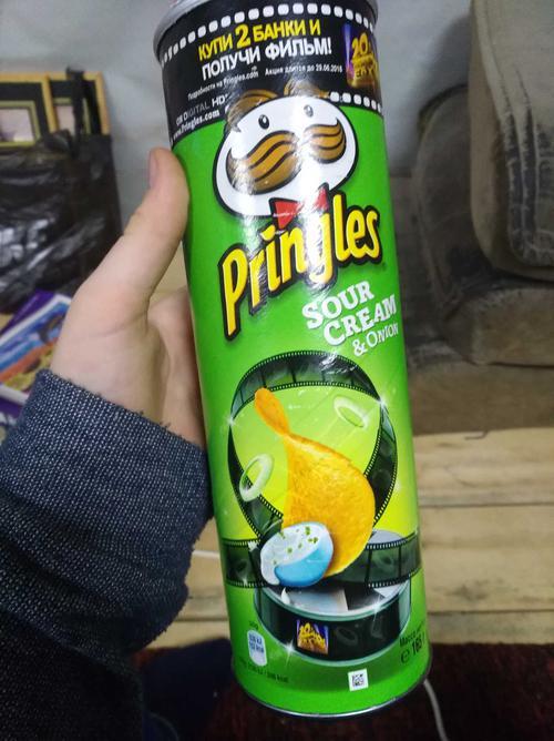 фото8 Чипсы Pringles со вкусом сметаны и лука, 165гр.
