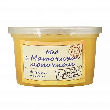 Мёд натуральный цветочный полифлорный с маточным молочком