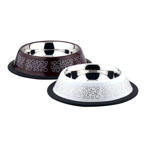 Миска для животных Foxie Circle Bowl металлическая 400мл