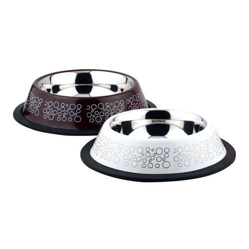 Миска для животных Foxie Circle Bowl металлическая 700мл