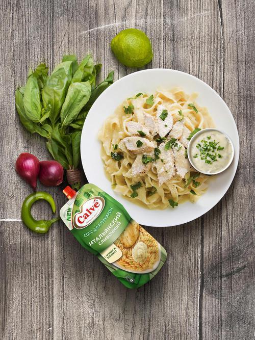 Calve соус для макарон итальянский сливочный